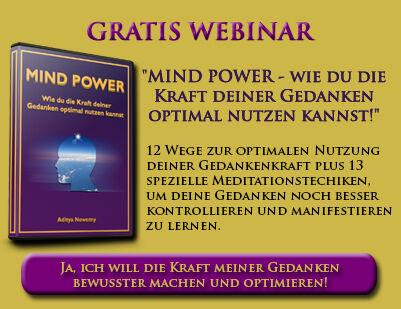 """Gratis-Webinar: """"Mind Power – wie du die Kraft deiner Gedanken optimal nutzen kannst!"""""""